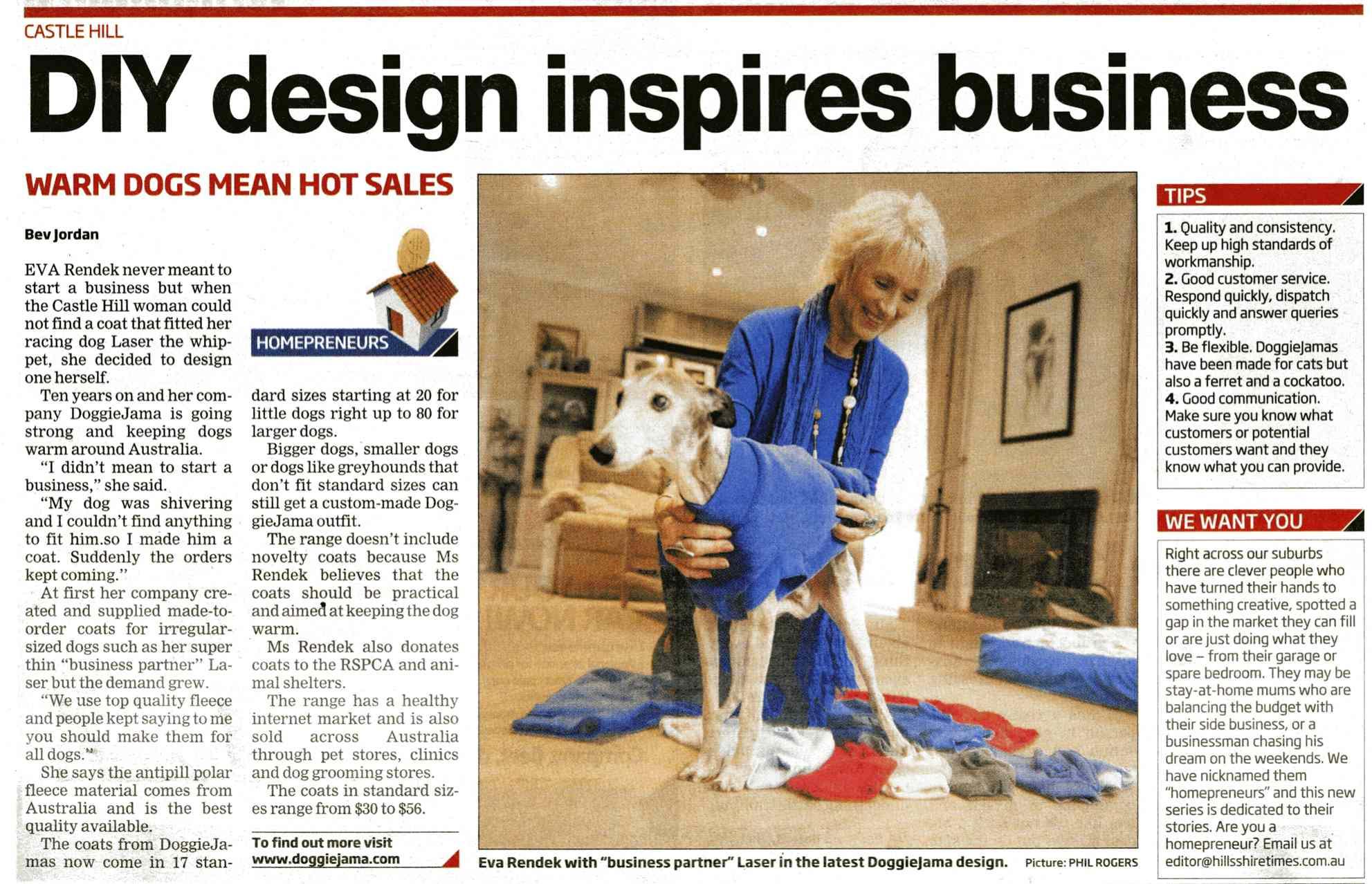 doggiejama news paper ad